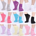Cotton Socks Woman Finger 5 Toes Design Socks Fashion Exercise Casual Pilates Massage Sock For Girls  A1