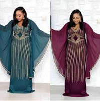 2018 fashion very big dresses for women/lady,Elegant oversizedDress african traditional print dresses with scarf for lady/women
