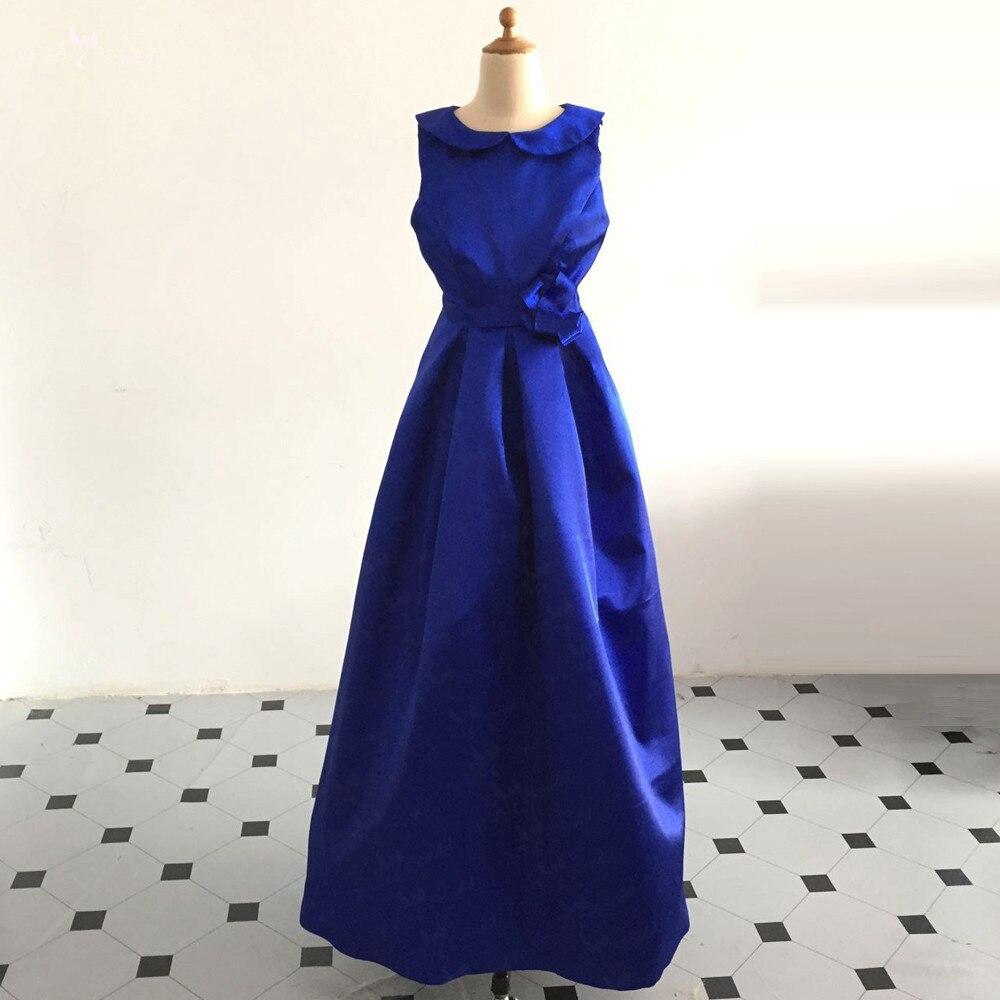 LZC029 robes de fille de fleur pour les mariages bleu fleur o-cou enfants robe de soirée pour les filles robes de reconstitution historique