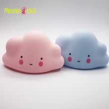Meaningsfull Novelty Pink Blue Cloud Smile Face Led Night Light Childrens Bedroom Nursery Night Lamp Mini Cloud Light Emitting
