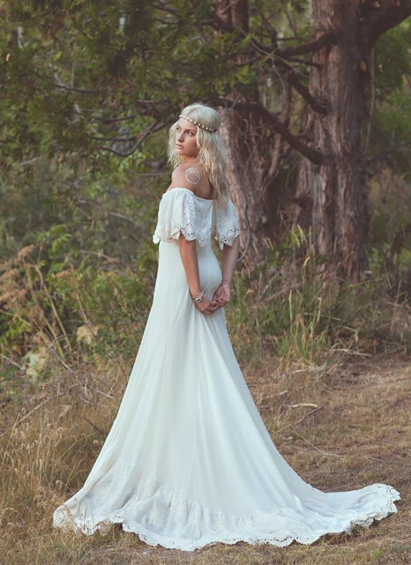 vestido de novia hippie barato
