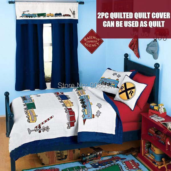 Hand made blue red train character bedding children s boys quilted quilt  cover 100  cotton Twin. Popular Quilt Boy Buy Cheap Quilt Boy lots from China Quilt Boy