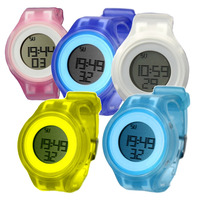 Wholesales 6pcs. /Lots Multiple Colors DW363 Date Alarm BackLight Silicone Band Unisex Sport Fashion gift Digital Watch