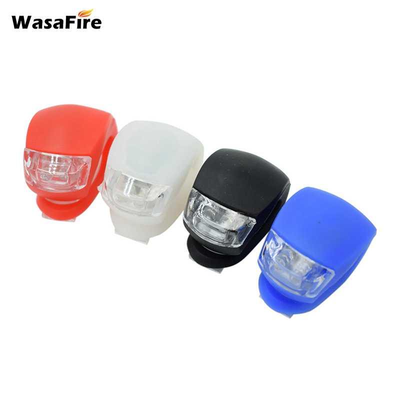 Силиконовый аварийный сигнальный фонарь WasaFire, 3 режима, велосипедные фары, шлем, светодиодная вспышка, передняя велосипедная фара, задний фо...