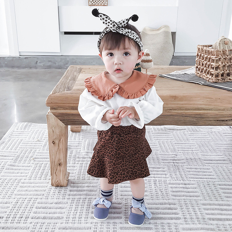 2019 Spring New Girl Lace Shirt skirt 2 piece SETS Ins Hot Sale Baby Girl Clothes Kids Clothes Girls White Shirt Girls Skirt in Clothing Sets from Mother Kids