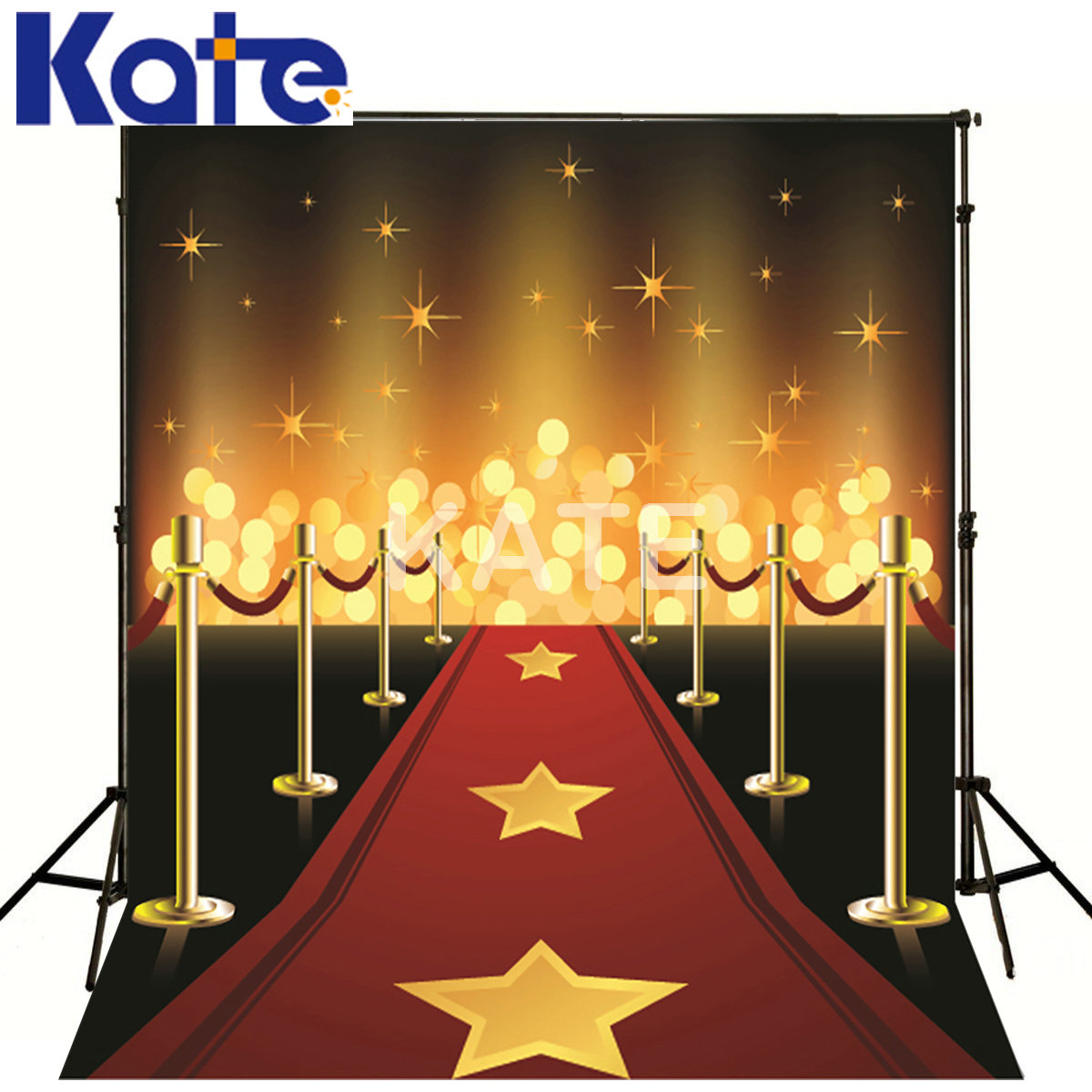 Kate Photography Backdrops Gold Five-Pointed Star Red Carpet Kate Backgrounds For Photography Studio our kate