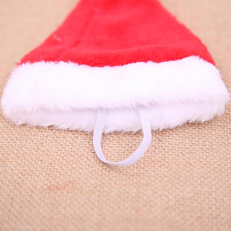 عيد الميلاد الكلب قبعة الحيوانات الأليفة سانتا كلوز قبعة عيد الميلاد الديكور للمنزل حلي زينة ليتل لطيف الحيوانات الأليفة متجر نويل السنة الجديدة