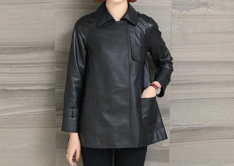 automne Mode Court Printemps Revers Pu 3xl Femmes Casual Noir Nouvelle M Veste 2019 Chaude t80xqI