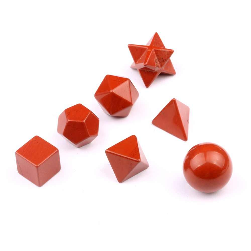 Sacred Geometry Symbols Engraved Red Jasper Stone Reiki Healing Crystal  Holistic Health Balancing Set MS0022