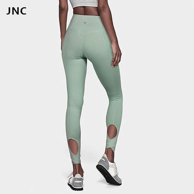 378e109ac1ca High Waist Women s Yoga Leggings Capris Candy Color Power Flex Running Pants  Tummy Control Workout Leggings 7 8 Length Leggings