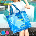 M Square Travel Pvc Handbag Women Men Beach Bag Male Shoulder Bags Sac a Main Casual Hand Bag Set Candy Color Shopping Bag