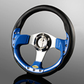Racing Style 320mm 13inch Leather PVC Alloy Steering Wheel UNIVERSAL 0008ABL