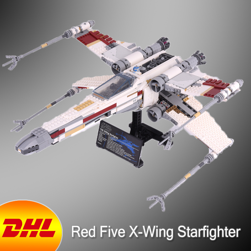 HF Star Wars Figures 1586Pcs Red Five X-wing Starfighter Model Building Kits Blocks Bricks Toys For Children Gift With 10240 2017 new 3803pcs star wars death star model building kits figures blocks bricks educational children toy gift compatible 10188