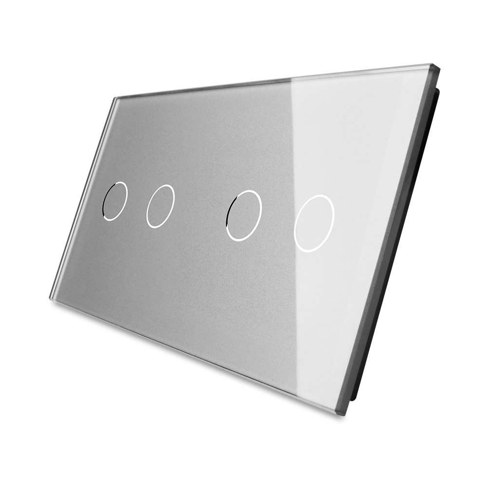 Cristal de perla gris 2017 de lujo, 151mm * 80mm, estándar europeo, Panel de vidrio doble OS-C2/C2-5
