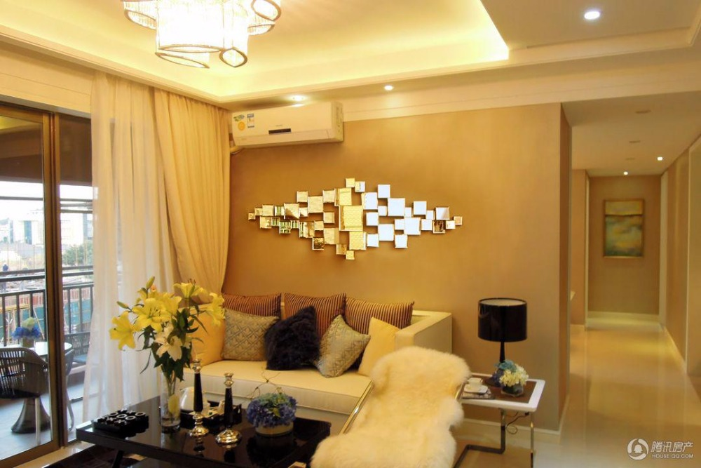 Modern mirrored wall decor beveled polydirectional square mirror ...