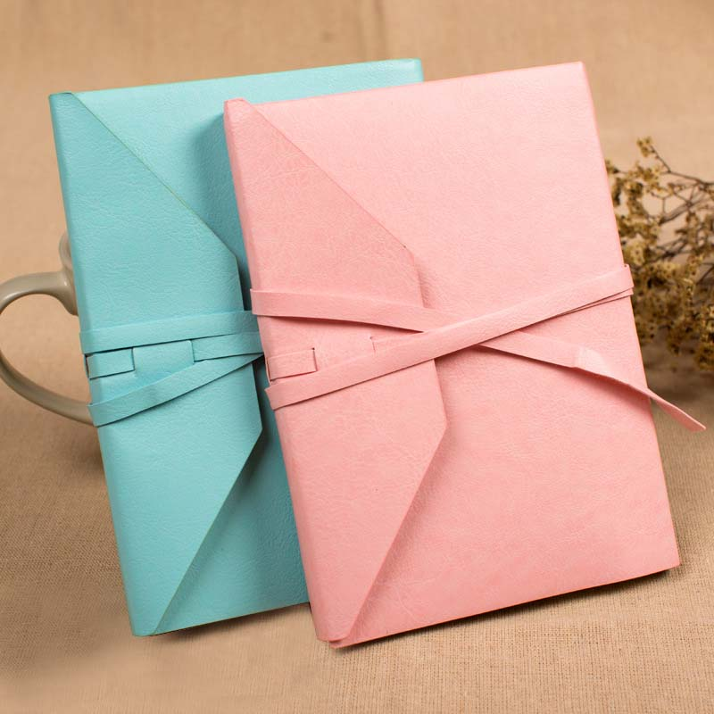 Hot Sale Leatherette Notebook Kraft Paper A5 Gift Cute Dotted Bullet