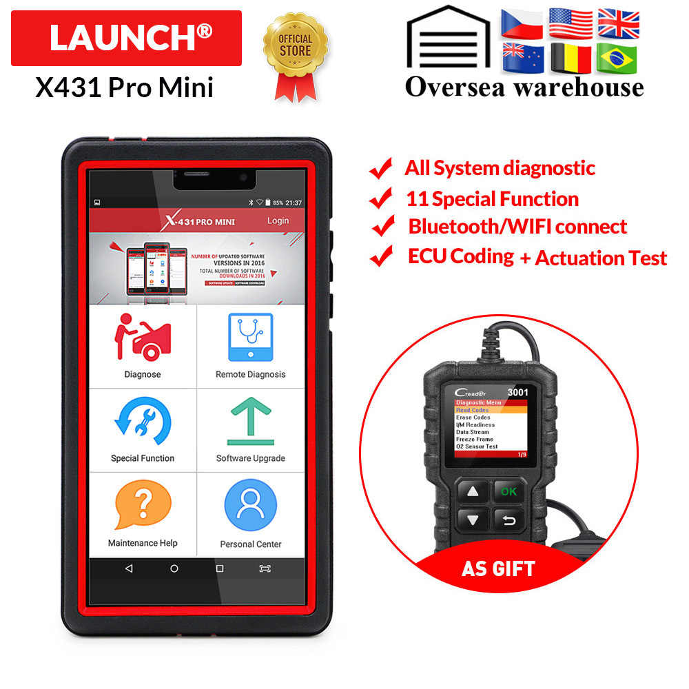 LAUNCH X431 Pro Mini Auto diagnostic tool Support WiFi/Bluetooth full system X-431 Pro Mini Car Scanner 2 years free update