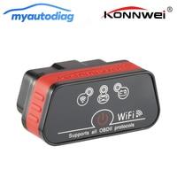 KONNWEI KW901 WIFI ELM327 V1.5 ODB2 OBDII Auto Diagnostische Scanner Tool Avondmaal Mini ELM 327 Code Reader Werkt Op IOS android Telefoon