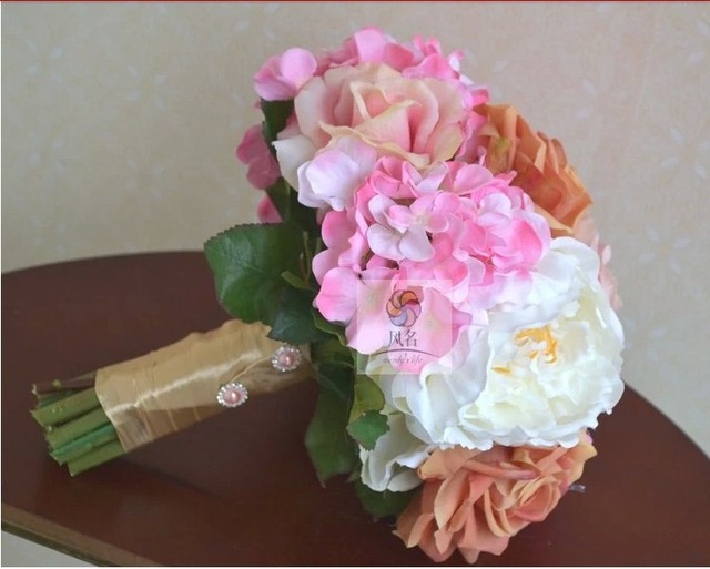 wedding hand bouquet Handmade Real Touch Artificial Flower Bride ...