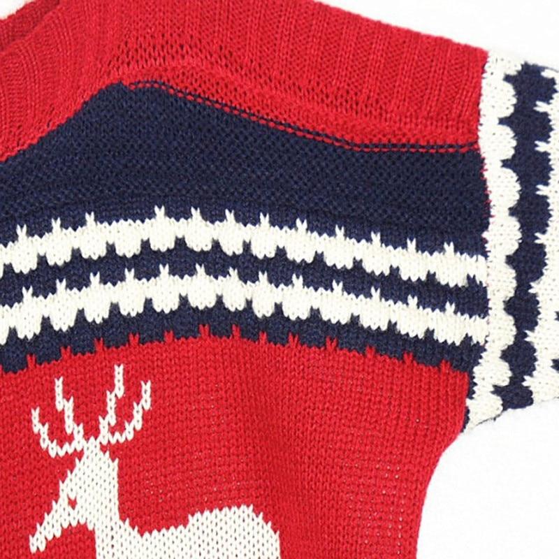 Kersttrui Matching.Christmas Sweater With Deer Women Sweaters Matching Jumper Kerst