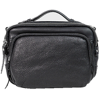 Original Handbag Genuine Cowhide Leather Women Men Unisex Shoulder Crossbody Retro Portfolio Flap Casual Business Male Gift