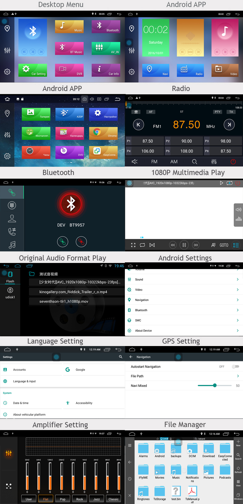 ANDROID car dvd 8.0 UI
