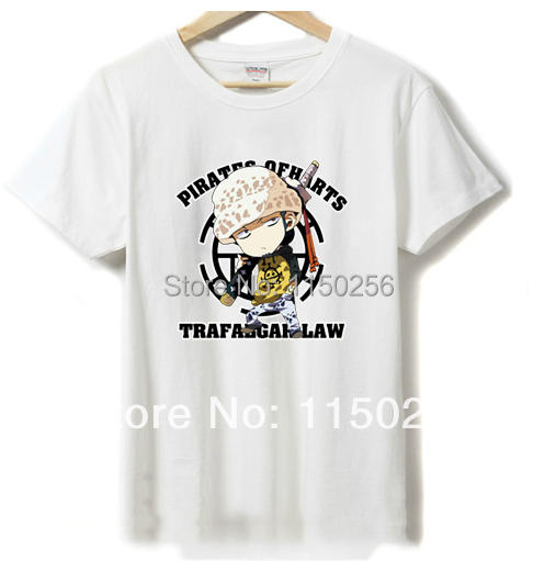 271bc9fb9 Anime one piece Cosplay Costume Trafalgar Law Lovers Summer Cartoon T-shirt  New For women men kawaii t shirt Free Sipping