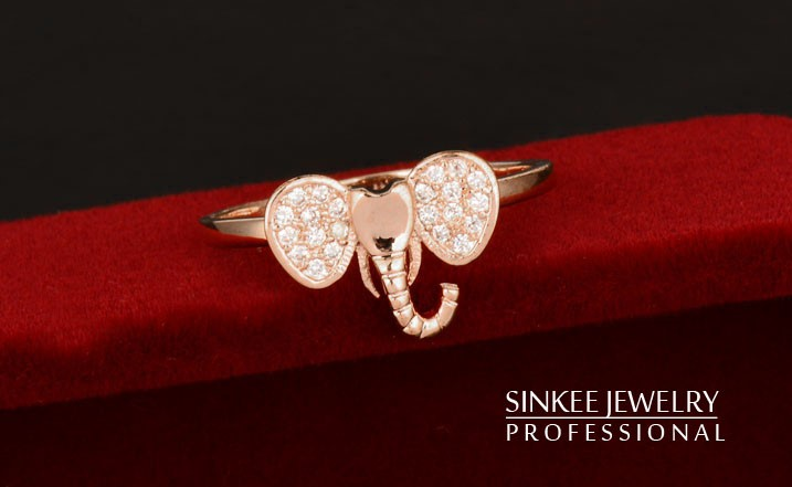 Bohemia Diamond Finger Elephant Rings