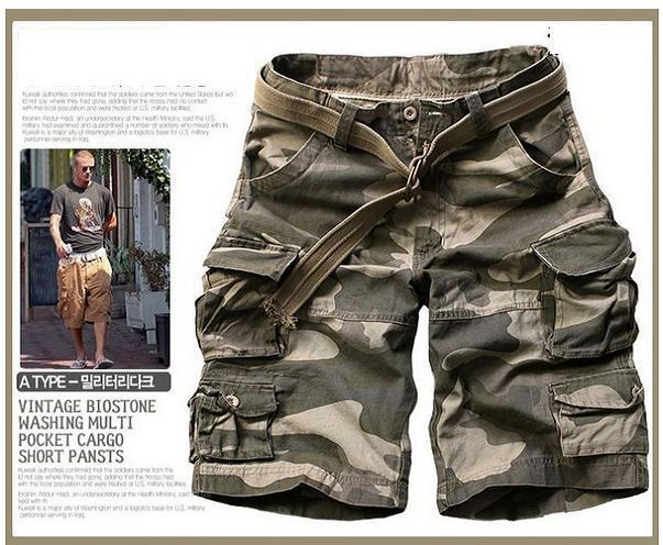 Новинка, Летний стиль, мужские повседневные армейские камуфляжные шорты Карго, хлопковые короткие штаны, военные камуфляжные модные шорты, мужские пляжные шорты - Цвет: Camouflage