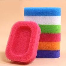 Конфетный цвет губка мыльница тарелка ванная комната комплект мыльница