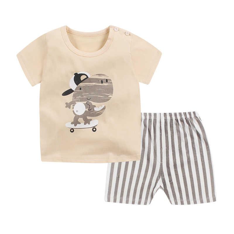 7e9141e3c ... Toddler Baby Boy Girl Summer Clothes Set Kids Boy Clothes Set T Shirt  Top+Shorts ...