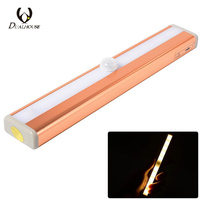 Dualhouse LED Under Cabinet Light Body Motion Sensor Closet Wardrobe Use Battery Bar Light Emergency Night