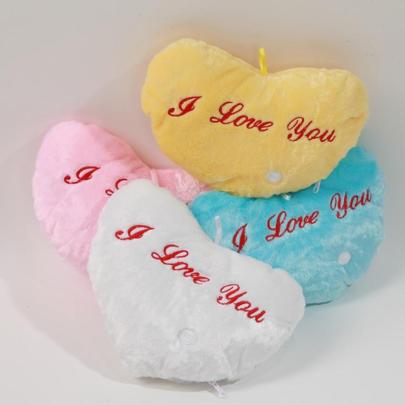 Креативная светящаяся подушка для любви, красочная светящаяся плюшевая кукла-подушка, светодиодный светильник, игрушки, подарок для девочек, детей, на Рождество, день рождения