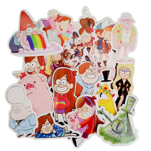 25Pcs/Many Amusing Gravity Falls Waterproof Sticker For Laptop Motorcycle Laptop Waterproof Skateboard Luggage Decal Toy printio look out gravity falls