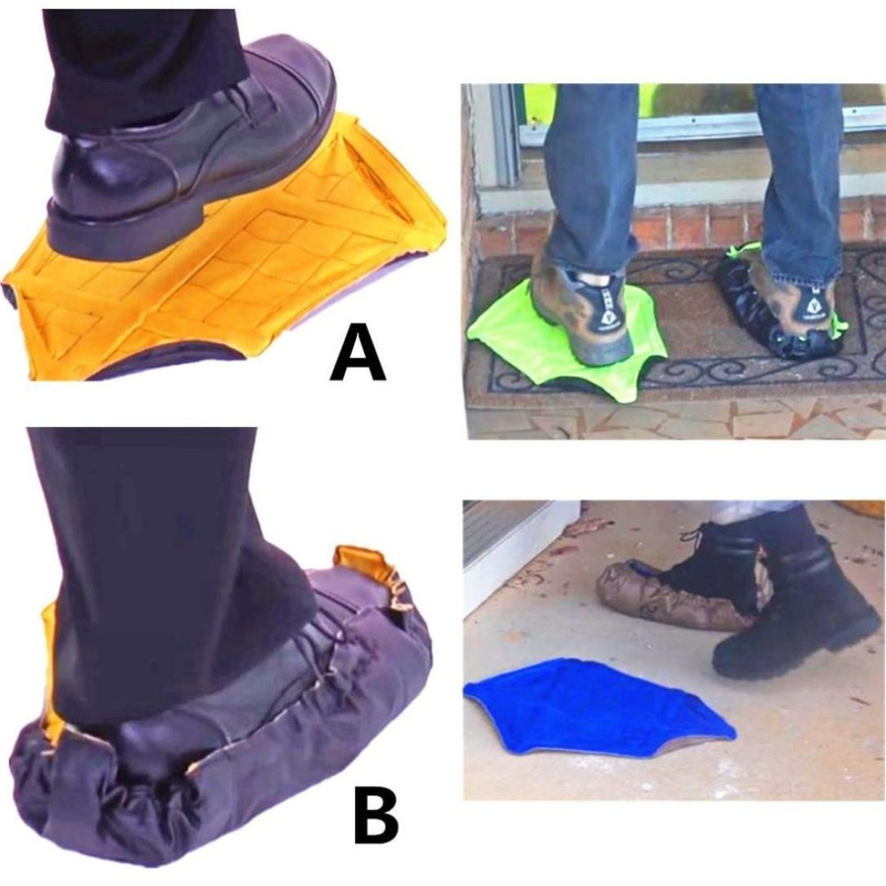 Step In Sock Hands Free Shoe Covers Reusable Shoe Boot Cover Durable Portable Automatic Shoe Covers For Home Use
