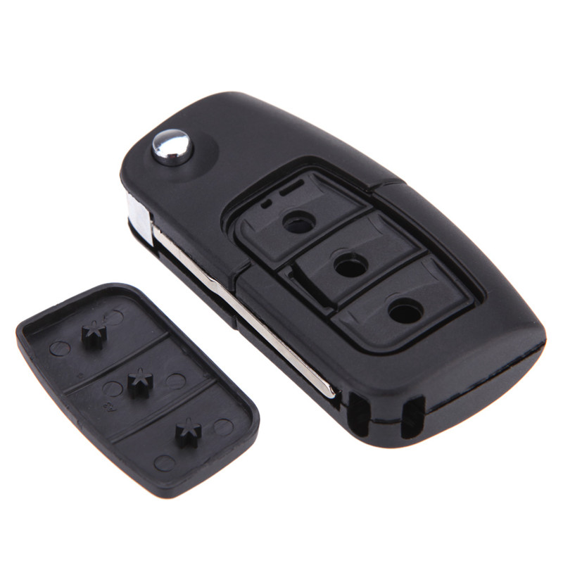Newest Car Auto 3 Buttons Uncut Refit Remote Folding Flip Key Shell for Ford/Focus Fiesta C Max Ka Key Case Car Accessories
