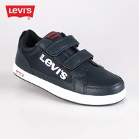 LEVI'S Denver 2 Velcro low sneakers with rips in blue