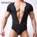 Slim Fitness Men Undershirts Jockstrap Bodysuit Body Bodybuilding Jumpsuit Romper Corset For Man Modal Boxer Slimming Underwear