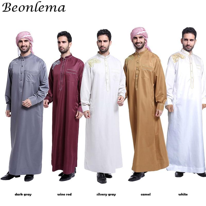 Beonlema robe musulmane Hombre Jubba Thobes hommes Islam marocain caftan Abaya broderie formelle vêtements islamiques Vestidos du pakistan
