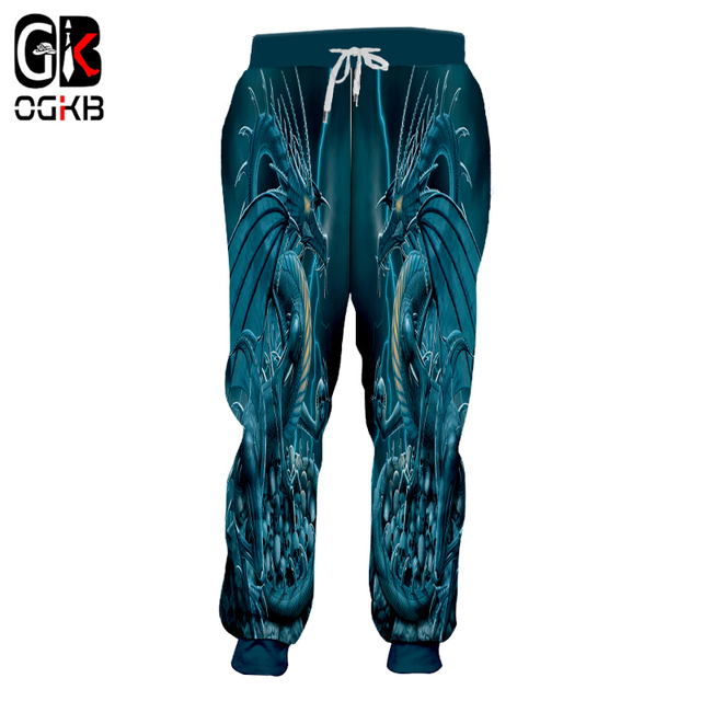 346e377b1580 OGKB Casual Sweat Pants Women men s Cool Print Blue Dragon 3d Sweatpants  Unisex Hiphop Streetwear Punk Style Full Length Pants