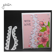 YINISE Metal Cutting Dies For Scrapbooking Stencils  COVER LACES SCRAPBOOK DIY Album Cards Decoration Embossing Folder Die Cuts yinise metal cutting dies for scrapbooking stencils bear bike die scrapbook diy album cards decoration embossing folder die cuts