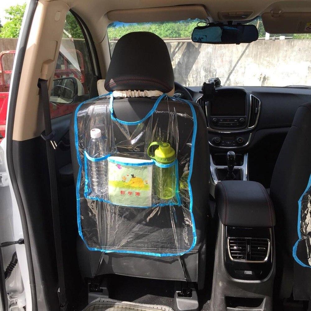 Thicken environmental pvc car auto seat back protector for Pvc car