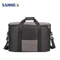 SANNE 34L Big Cooler Box BBQ Picnic Storage Bags Oxford Portable Outdoors Lunch Shoulder Bags termica bolsa almuerzo Handbags