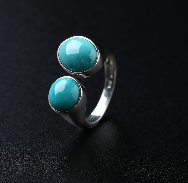 925 Silver With Natural Turquoise Ring,Can Order Big Quantity