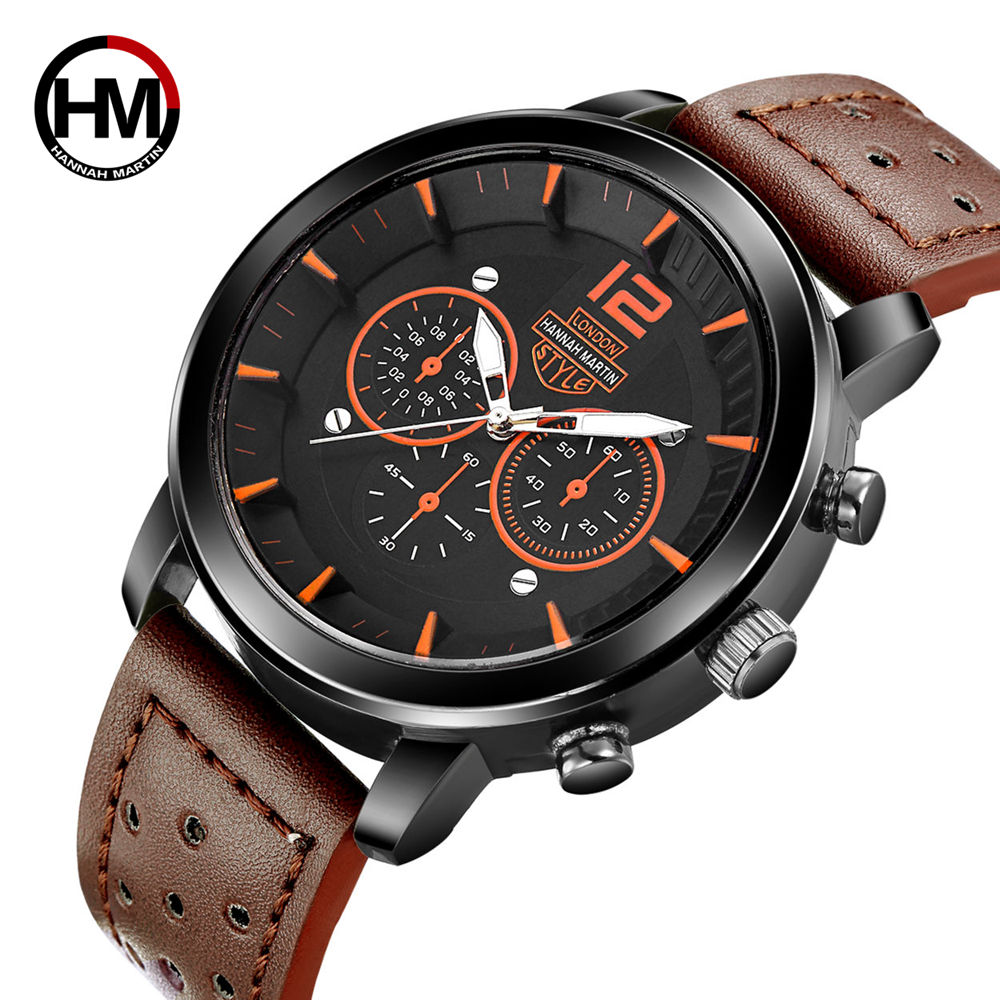 Hannah Martin Men's Sport Watches Top Brand Wrist Watch Men Watch Fashion Military Men's Watch Clock kol saati relogio masculino