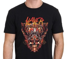 цена Plain T Shirts Crew Neck Short Sleeve Slayer Spirit In Black Tall Mens T Shirt онлайн в 2017 году