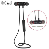 M9 Bluetooth 4 0 Wireless Sport Exercise Stereo Noise Reduction Earbuds Build In Microphone Earphone For