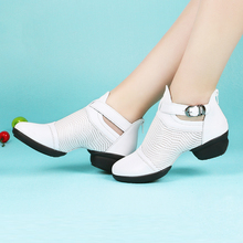 Rumba Dance Shoes Leather Female Sailors Square Soft Bottom With Mesh Breathable Shoes Samba Saltation Shoes Woman modern shoes woman sports danc shoes series annalisa female adult soft bottom shoes samba gb ballroom dancing shoes rumba