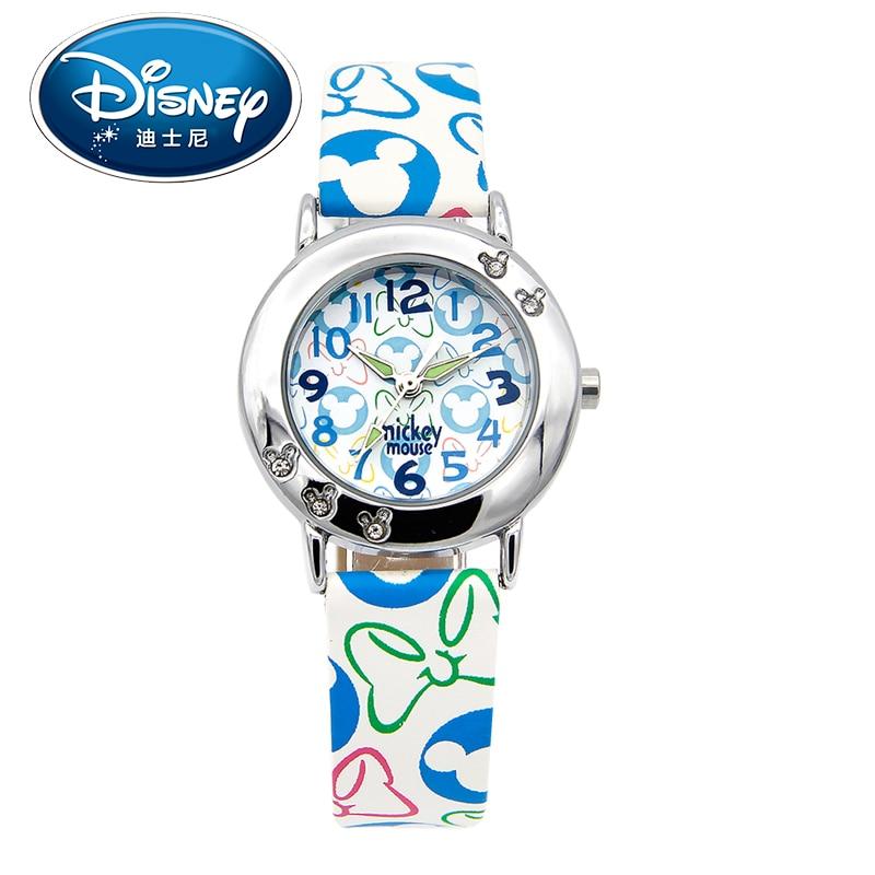 2017 Disney Kids Watch Children Watch Fashion Simple Wristwatches Girls Mickey Mouse Gift Water Resisitant clock