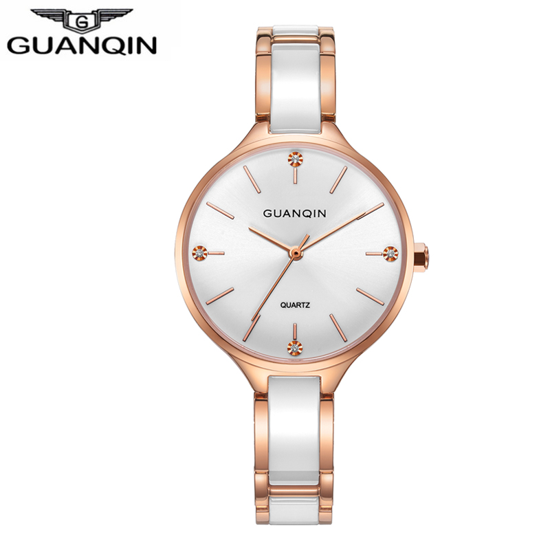 Fashion Lady watches Women sport watches Top Brand GUANQIN Waterproof Automatic Sapphire Ceramic watches for women WhiteFashion Lady watches Women sport watches Top Brand GUANQIN Waterproof Automatic Sapphire Ceramic watches for women White